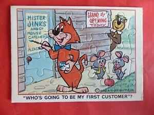 Vintage. Mr Jinks, Yogi Bear, Pixie & Dixie. Hanna-Barbera. Mini Jigsaw.