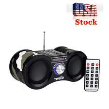 Retekess Portable FM Radio Stereo Digital Speaker MP3 Player Rechargeable US