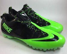 New NIKE  Vapor Carbon Fly 2 TD Men Sz US 16M Black Neon Green Cleats 596630-030