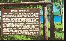 EAGLE HARBOR ,MICHIGAN-SIGN-STORY OF EAGLE HARBOR-(MICH-E*)