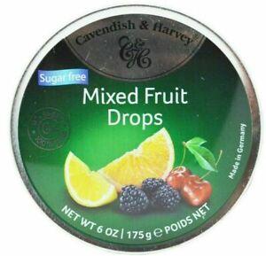 Cavendish & Harvey Mixed Fruit Drops 0% Sugar 100% Taste 175g