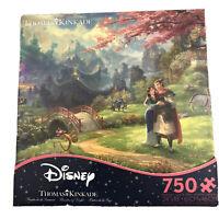 Disney - Thomas Kinkade - Mulan Blossoms Of Love - 750 Pc Puzzle- New!