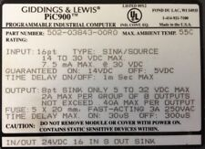 GIDDINGS & LEWIS : Input-Output Combo : 24 VDC : 16 In/8 Out # 502-03843-00 R0
