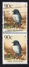 New Zealand: Native Birds; vertical pair of 90c NZ Robin; fine used