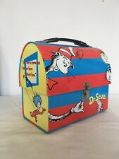 Dr Suess Cat In The Hat Domed Tin Lunch Box Kids Book