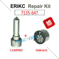 ERIKC 7135-647 Repair Kit Nozzle L120PBD+Valve 9308-621C For Injector EJBR04001D