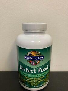 GARDEN OF LIFE PERFECT FOOD SUPER GREEN FORMULA 150 CAPLETS-EXP 7/22