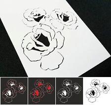 # S 3 un. Tarjetas de inicio de pintura aerógrafo de plantilla de rosas decoración de interiores Torta De Boda