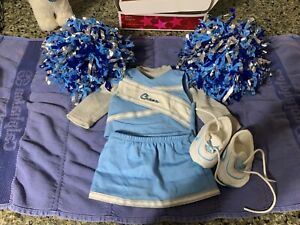 American Girl Cheerleader outfit w/ pom poms and sneakers