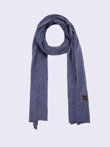 Diesel Unisex K-Feb 00S29Z Fine Knitting Scarf Blue