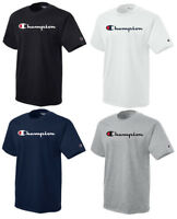 CHAMPION Classic Script Logo Short Sleeve Athletic T-Shirt Tee New S-2XL