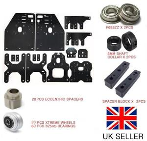 TALLER OX CNC ROUTER GANTRY PLATE KIT 30 XTREME WHEEL 20 ECCENTRIC SPACER & MORE