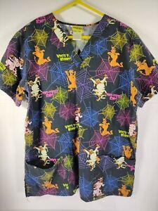 Scooby Doo Halloween Scrub Top Size Large