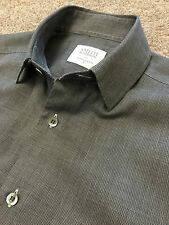 WORN ONCE SMYTH & GIBSON CONTEMPORARY FIT MICRO CHECK SHIRT S SMALL COST £105