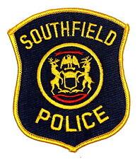 Southfield Michigan Mi Police Patch State Seal Moose Elk Eagle Banner~