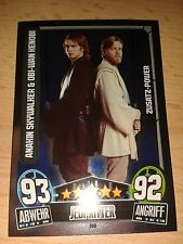 Force Attax Star Wars Serie Movie 3 Zusatz-Power 200 Anakin & Obiwan Sammelkarte