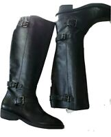 ENZO ANGIOLINI Women's 'Sayin' Black Leather Sz 9.5 Riding Boots
