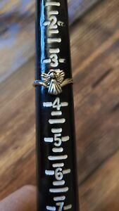 Dakota West Shube .925 silver ring little girls angel ring size 3.5