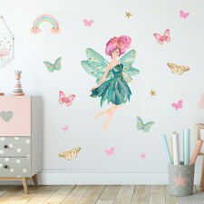Fairy Wall Stickers, Wall Decals, Turquoise Pink Fairy Princess FARY.5