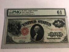 1917 $1 Legal Tender Fr 37 PMG 61 Elliott Burke