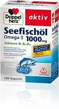 3x Doppelherz aktiv Seefischöl Omega- 3, 120 Kapseln