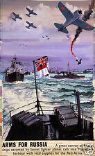 "Navy War Effort Arms For Russia, Blake, British World War 2 Poster 12x8"" reprint"