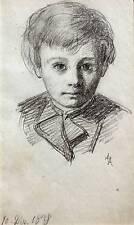 SMALL PORTRAITS PENCIL GERMAN BOY ANNA ALLISON C1878