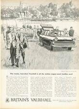 1959 Pontiac British Vauxhall Station Wagon four door Rowing PRINT AD