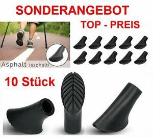 10 x Nordic Walking Asphaltpads Gummipuffer Pads Ersatzfüße für Trekking Stöcke