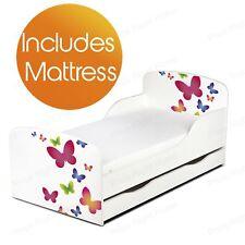 BUTTERFLIES MDF TODDLER BED + SPRING MATTRESS WITH UNDERBED STORAGE