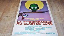 LA 7ème compagnie AU CLAIR DE LUNE  !  affiche cinema dessin h morvan 1976