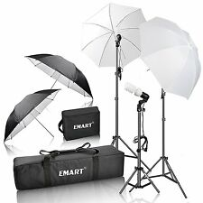 Emart 600W Photography Light Photo Video Studio Umbrella Lighting Kit