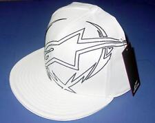 New Licensed Alpinestars PLAYER White Flexfit Hat L/XL SICK LID! Last Ones! SA