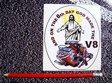 V8 Sticker Funny American Hot rod Pontiac Mustang Corvette Muscle Car stingray