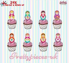 Pretty Dolls 24 Stand-Up Pre-Cut Wafer Paper Cup cake Toppers