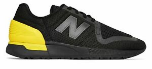 New Balance Men's 247S Shoes Black with Yellow