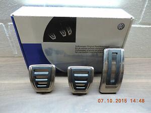 Original Volkswagen  Zubehör Pedalkappenset VW Golf VII, Edelstahl gebürstet