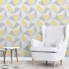 Grey And Yellow Wallpaper Geometric Pattern Apex By Fine Decor Fd41991
