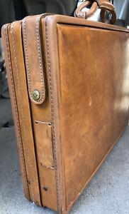 "Vintage Hartmann Briefcase Attaché 18"" x 13"" x 4"" Double Key Lock Paisley Inter"