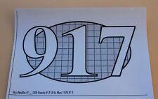 QPb Certificat autocollant PORSCHE 917 LH Le Mans 70 N°3 pour socle Heco 1/43