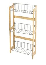 Bamboo Wood Kitchen Rack with 3 Shelves for Storage Unit New