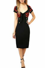 Unbranded Spotted Wiggle, Pencil Plus Size Dresses for Women