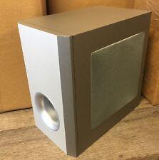 NEW 20W ASPEN AUDIO SILVER SUBWOOFER COMPUTER LOUDSPEAKER LOW BASS SPEAKER TAN