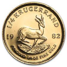 1982 Südafrika 1/4 oz Gold Krügerrand-SKU #89440