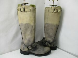 Frye Distressed Leather Knee High Biker Engineer Boots Size 6.5 B Style 77619