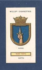 HMS MACKAY HMS Claverhouse Scott Class Flotilla Leader WW1 original 1925 card