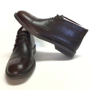 Dunham Gavin Dun Mens 9.5 D EU 43 Cap Toe Chukka Boots Brown Leather Lace Up