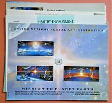 """(10) Different United Nations Postal Souvenir Cards, """"MISSION TO PLANET EARTH""""+"""