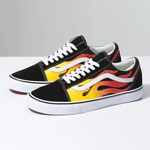 Flame Old Skool Vans Size 9 Mens