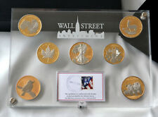 2010 Wall Street Investment Silver 7oz. Gold/Platinum Plated World Collection